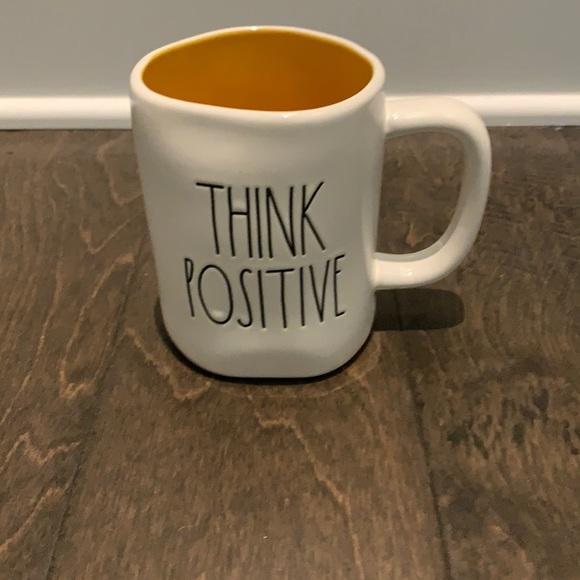 NWOT Rae Dunn Think Positive Mug